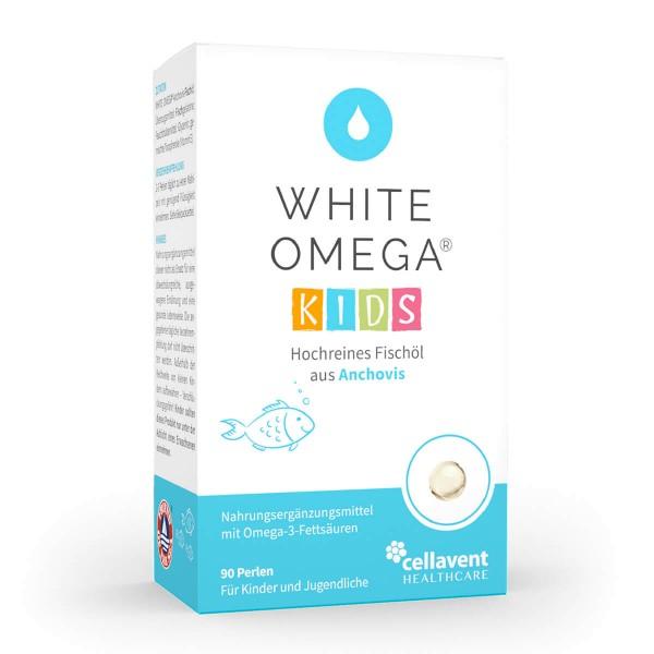 White Omega KIDS - Omega 3 Kapseln für Kinder (90 Stück / 1 Monat) - Premium Omega 3 Fischölkapseln von Cellavent Healthcare