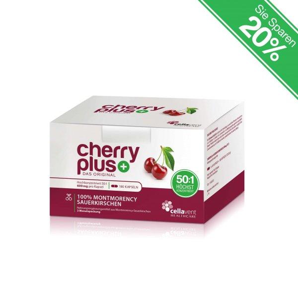 Cherry PLUS CherryPLUS-Kirsch-konzentrat-Kapseln-3-Monatspackung-Nahrungsergänzungsmittel