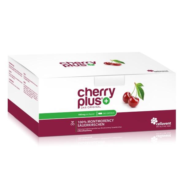 Cherry PLUS - Das Original - Montmorency Sauerkirsche Kapseln (360 Stück / 6 Monate) von Cellavent Healthcare