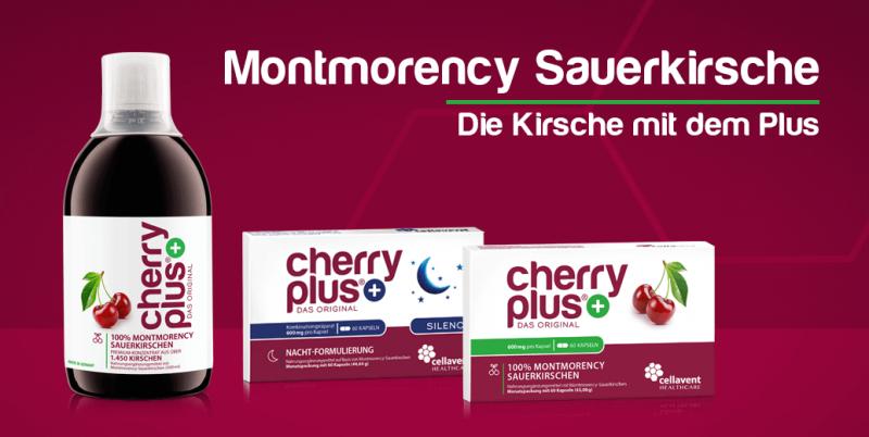 Cherry PLUS - Das beste aus der Montmorency Sauerkirsche für Ihre Gesundheit