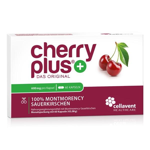 Cherry PLUS - Das Original - Montmorency Sauerkirsche Kapseln (60 Stück / 1 Monat) von Cellavent Healthcare