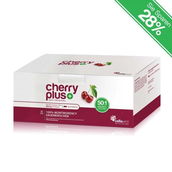 Cherry PLUS CherryPLUS-Kirsch-konzentrat-6-Monatspackung-Kapseln