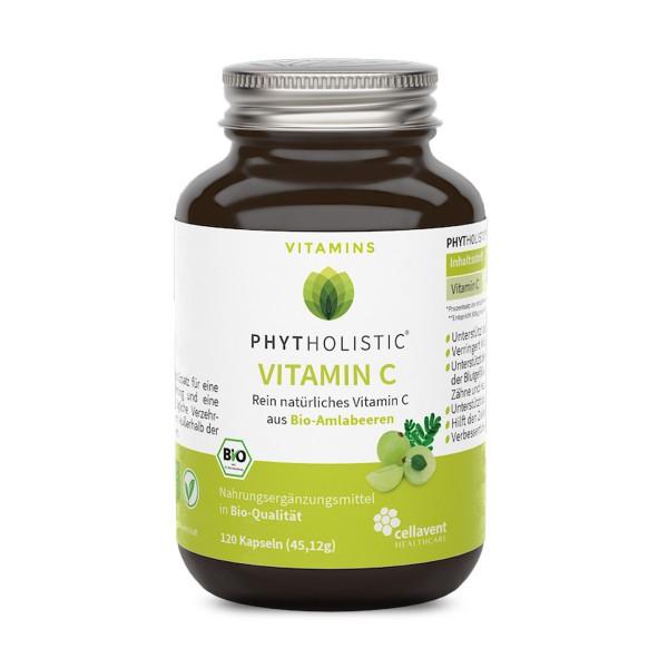 Phytholistic - BIO Vitamin C Kapseln (120 Stück / 2 Monate) von Cellavent Healthcare