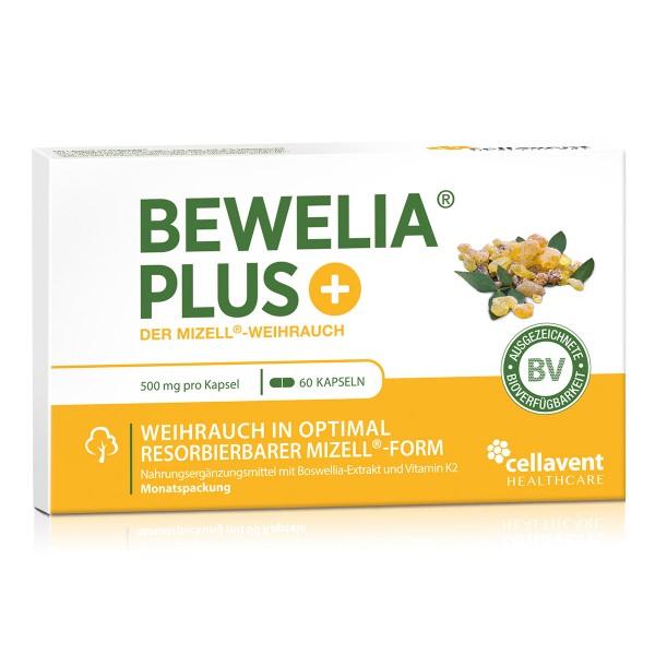 Bewelia PLUS - Mizell Weihrauch Kapseln (60 Stück / 1 Monat) - Qualitätsprodukt von Cellavent Healthcare